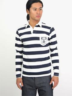 Stripe Rugby Shirt 18170801: Navy