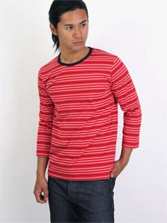 Stripe Reversible Tee 08SC-006 Red