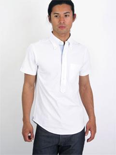 Cotton Pique BD Polo Shirt 08SC-009 White
