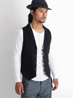Cotton Jersey Vest 08SO-042 Black