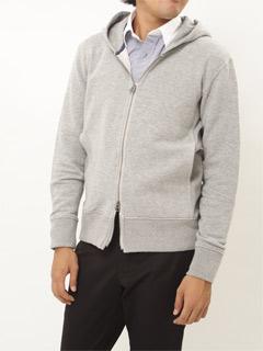 Full-Zip Sweat Parka 18372802: Grey