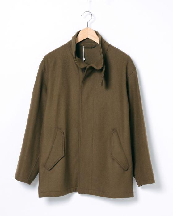 Comoli Felton Zip Blouson 0052-0003-1608: Khaki