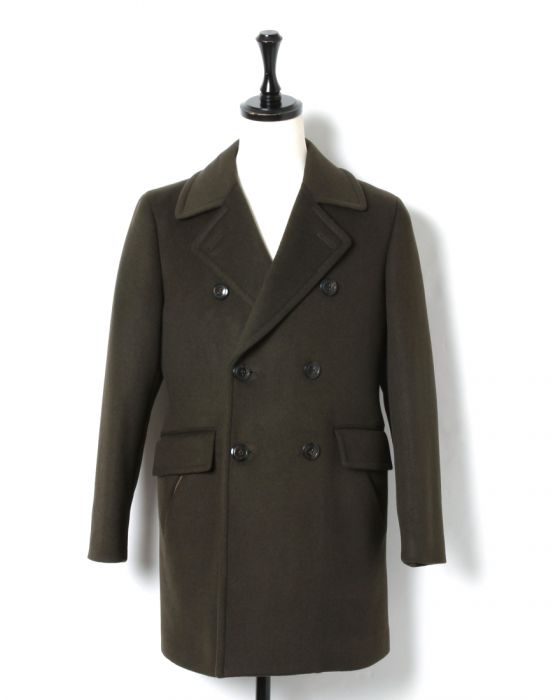 Hand Room Yak Beaver Ulster Coat 8083-2501: Olive