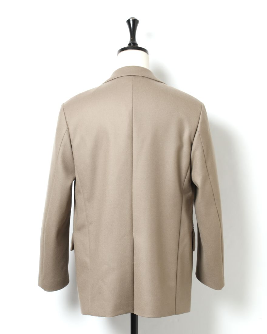AURALEEライトメルトンダブルブレステッドジャケット【LIGHT MELTON DOUBLE-BREASTED JACKET】01l