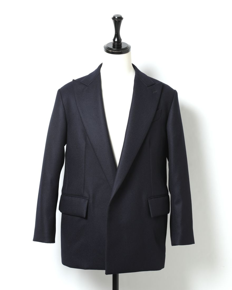 AURALEEライトメルトンダブルブレステッドジャケット【LIGHT MELTON DOUBLE-BREASTED JACKET】c1