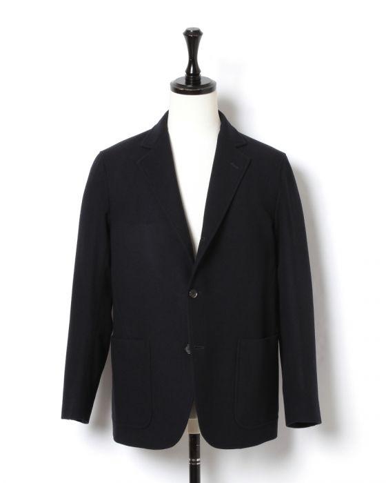 Auralee Wool Cashmere Flannel Jacket A8AJ02WF: Navy