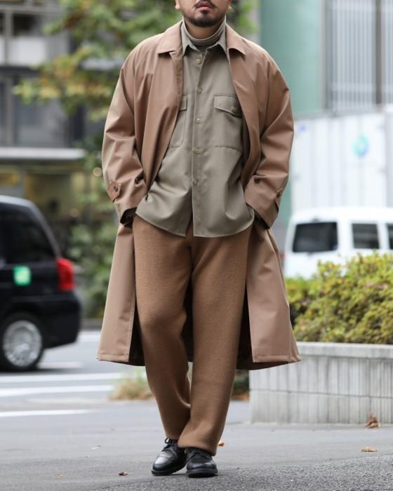 Auralee Light Wool Mohair Soutien Collar Coat A8AC01LW: Gun Club Check