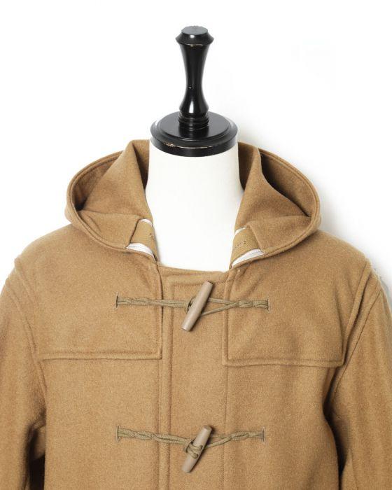 Auralee Hard Melton Duffle Coat A8AC01HM: Khaki
