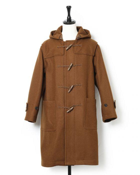 Auralee Hard Melton Duffle Coat A8AC01HM: Brown