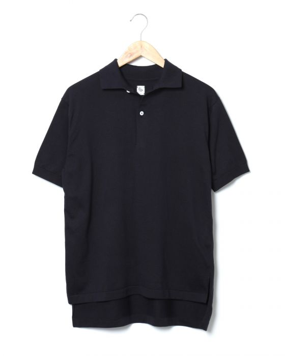 Kaptain Sunshine Knit Polo Collar Shirt KS8SKN04: Navy