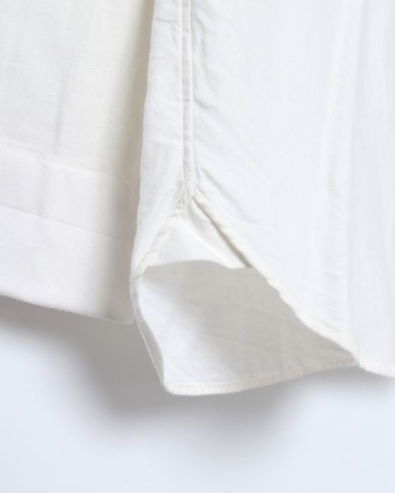 HAND ROOM起毛レギュラーシャツ【Short Regular Shirt/Raised Off White】05l
