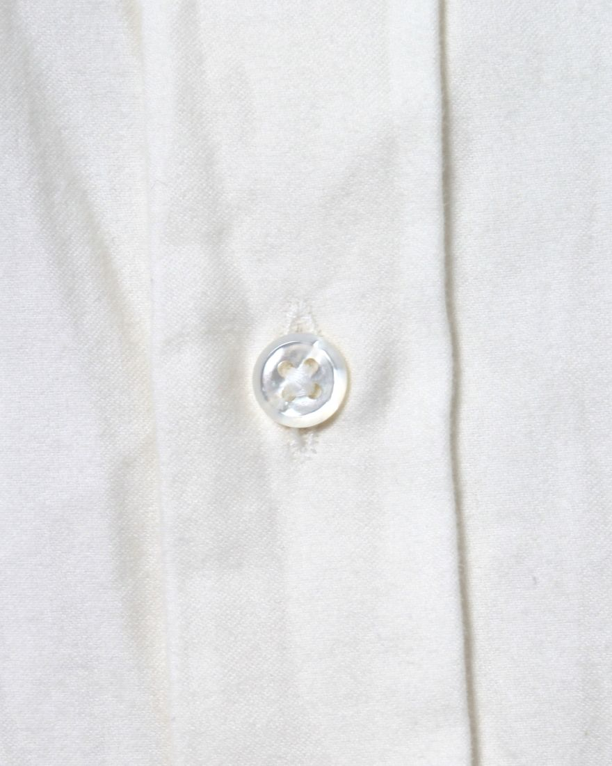 HAND ROOM起毛レギュラーシャツ【Short Regular Shirt/Raised Off White】07l