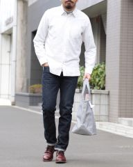 HAND ROOM起毛レギュラーシャツ【Short Regular Shirt/Raised Off White】mb_ma