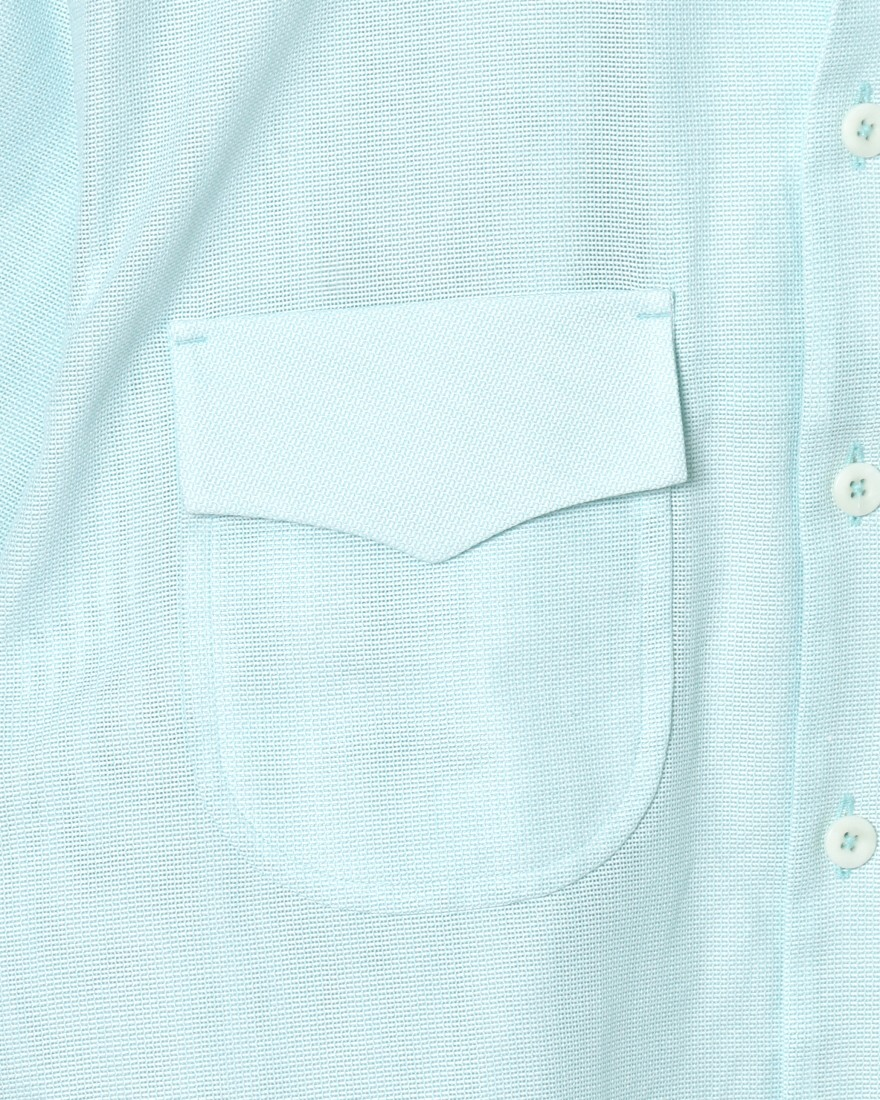 HAND ROOMドビー織オープンカラーシャツ【Cotton Dobby Cloth Open Collar Shirt】05l