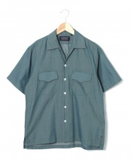 HAND ROOMドビー織オープンカラーシャツ【Cotton Dobby Cloth Open Collar Shirt】mb_c1