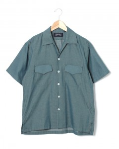 ドビー織オープンカラーシャツ【Cotton Dobby Cloth Open Collar Shirt】