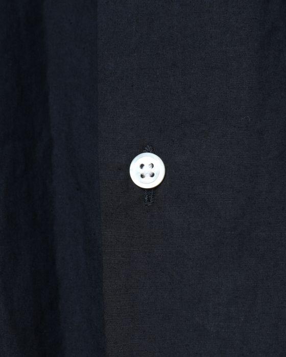 Hand Room Open Collar Short Sleeve Shirt 8081-1601: Navy