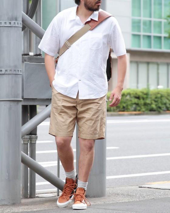 Hand Room Open Collar Shirt Dobby Stripe 8071-1602: White