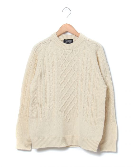 Hand Room Fisherman Sweater 8074-1302: White