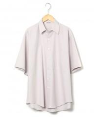 AURALEE(オーラリー)ウォッシュドフィンクスコットンツイル・ハーフスリーブビッグシャツ
