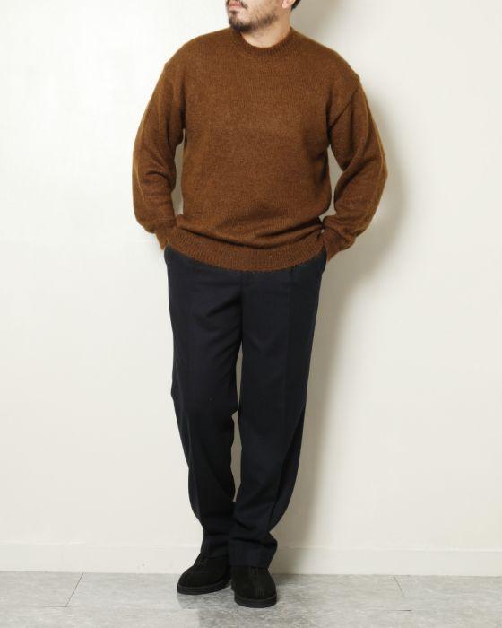 Auralee Super Kid Mohair Knit Pullover A8AP01KM: Brown