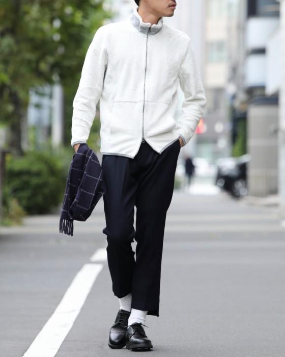 KHONOROGICA(コノロジカ) ウールツイル裾フリンジパンツ【T/W TWILL FRINGE PT】