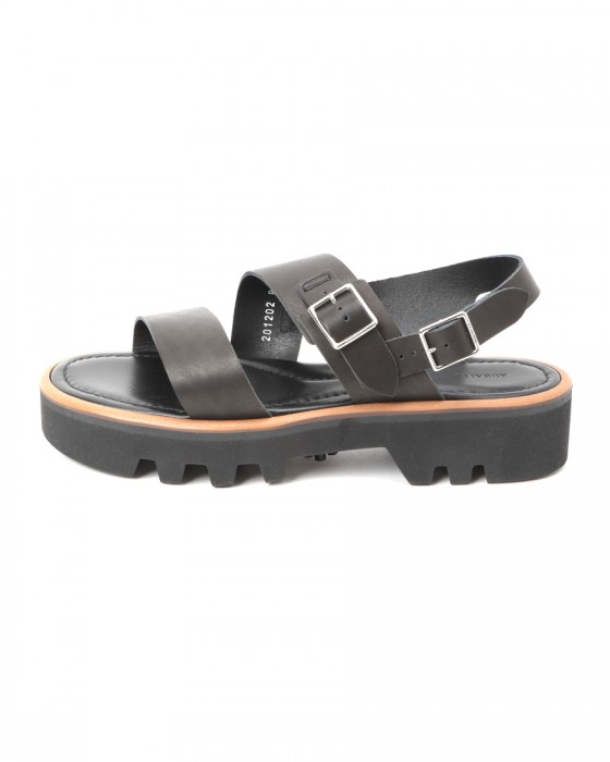 AURALEEダブルストラップレザーサンダル【LEATHER BELT SANDALS MADE BY FOOT THE COACHER】01l