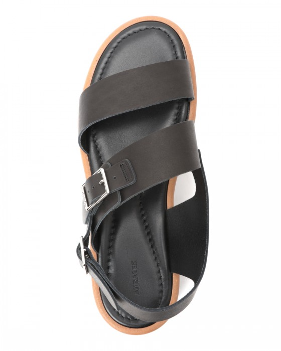 AURALEEダブルストラップレザーサンダル【LEATHER BELT SANDALS MADE BY FOOT THE COACHER】04l