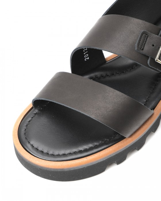 AURALEEダブルストラップレザーサンダル【LEATHER BELT SANDALS MADE BY FOOT THE COACHER】06l