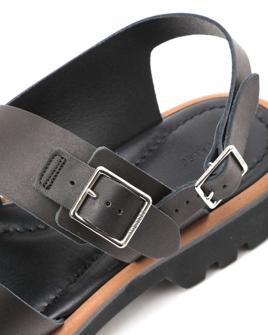 AURALEEダブルストラップレザーサンダル【LEATHER BELT SANDALS MADE BY FOOT THE COACHER】07l