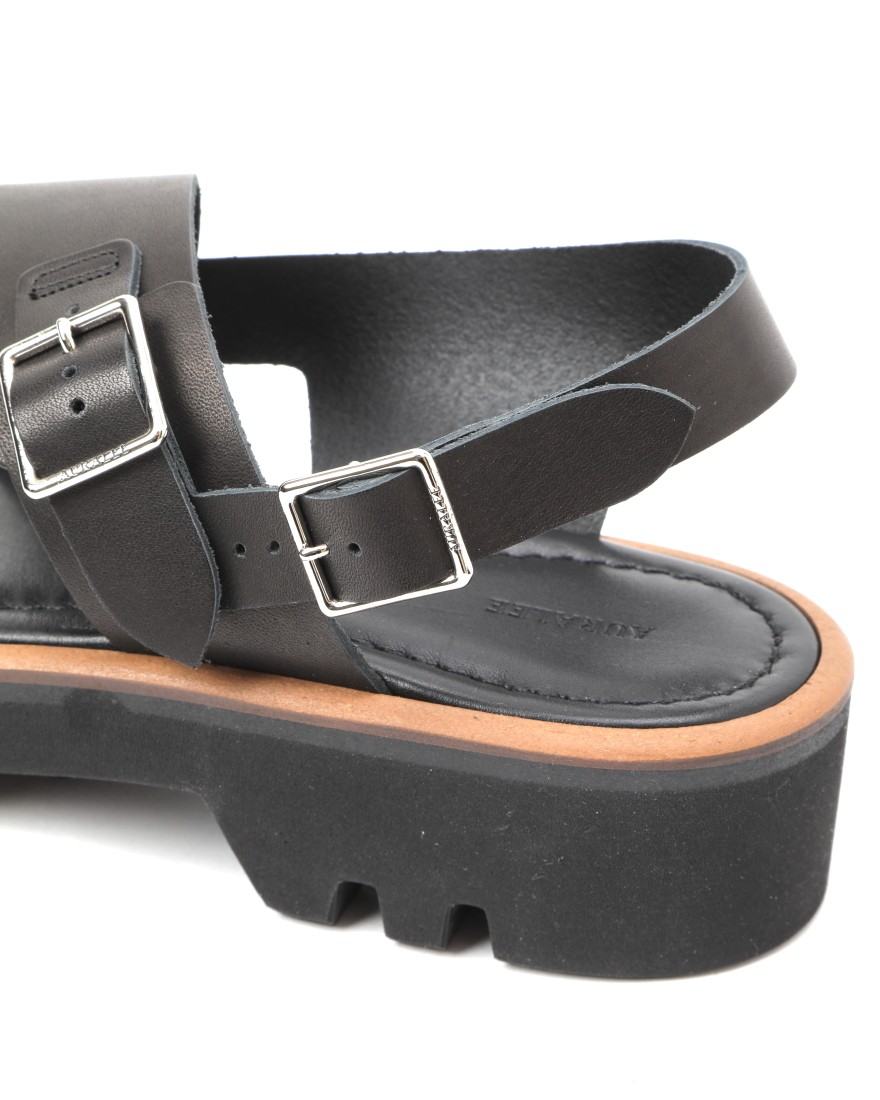 AURALEEダブルストラップレザーサンダル【LEATHER BELT SANDALS MADE BY FOOT THE COACHER】08l