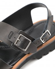 AURALEEダブルストラップレザーサンダル【LEATHER BELT SANDALS MADE BY FOOT THE COACHER】mb_07l