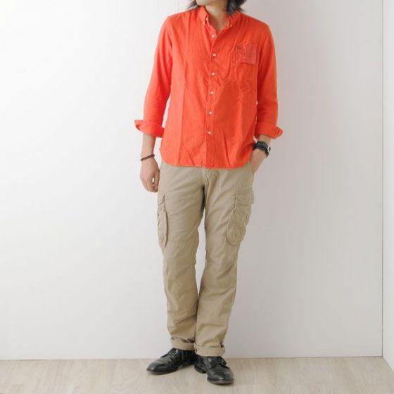 KATO'BASIC(カトーベーシック) コットンフランネルカラーBDシャツ