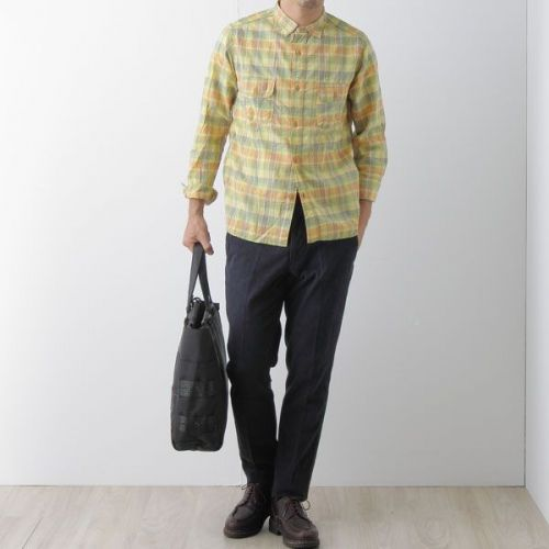W-Flap Work Shirt SN-13S-011: Green