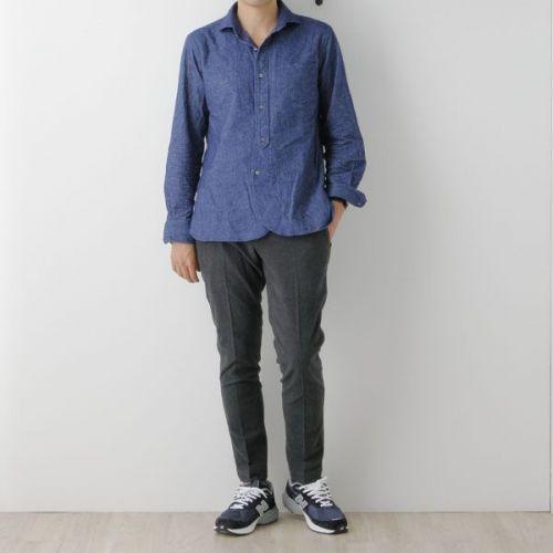 Soundman(サウンドマン) ワイドスプレッドカラーシャツ【Bayswater】