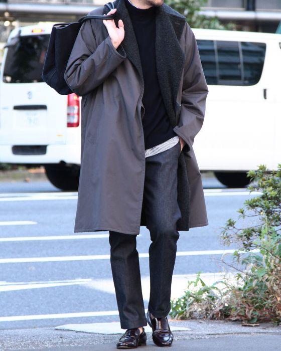 Comoli Tielocken Coat 15F-04002: Grey