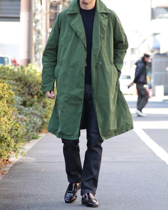 COMOLI(コモリ) 製品染めロングコート【TIELOCKEN COAT】