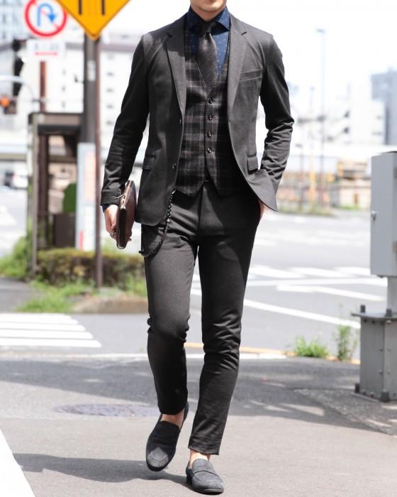 超度詰め天竺ジャージー シングル2Bジャケット【ONTANO】
