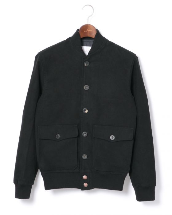 Private White V.C. Moleskin Bomber G14778: Black
