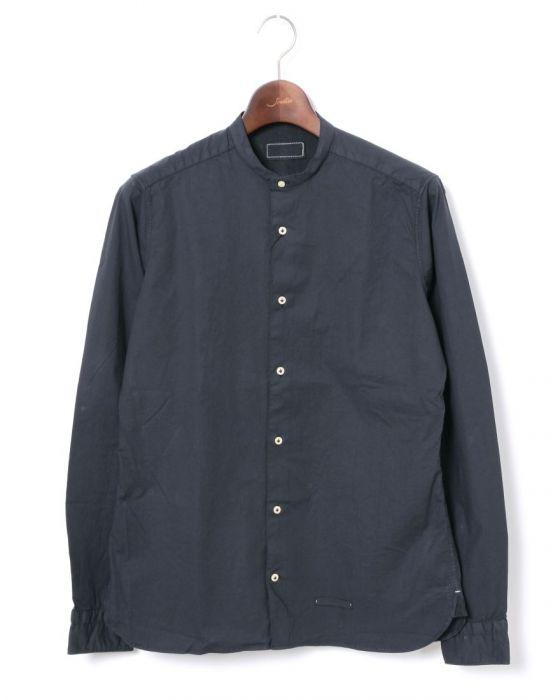 <東京ライフ> TINTORIA MATTEI(ティントリア マッティ)バンドカラー ウォッシュドコットンシャツ【SLIM FIT】画像