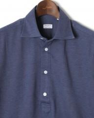 BORRIELLO(ボリエッロ)ワイドカラー ライトウェイト 鹿の子半袖ポロシャツ