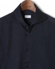 BORRIELLO(ボリエッロ)ワイドカラー コットンジャージ ドレスシャツ