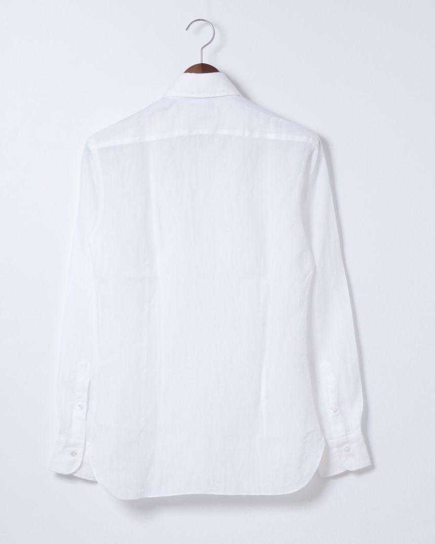 70c0896d211bd ホワイトリネンシャツ【襟型NEW BRUNO / DANDYLIFE】|BARBA(バルバ ...