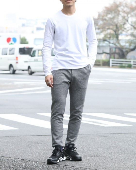 SOLIDOサイロ杢ポンチ D-Trousers【Siro Top Stetch】ma