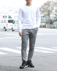 SOLIDOサイロ杢ポンチ D-Trousers【Siro Top Stetch】mb_ma