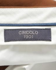 CIRCOLO(チルコロ)鹿の子ジャージー スリムフィットパンツ
