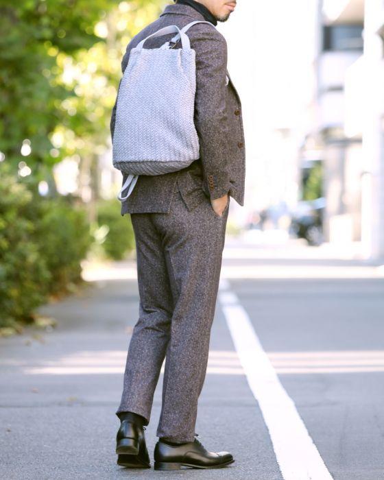 TIBERIO FERRETTI(ティベリオ・フェレッティ) レザーイントレチャート バッグ【Spiga Intrecciato】