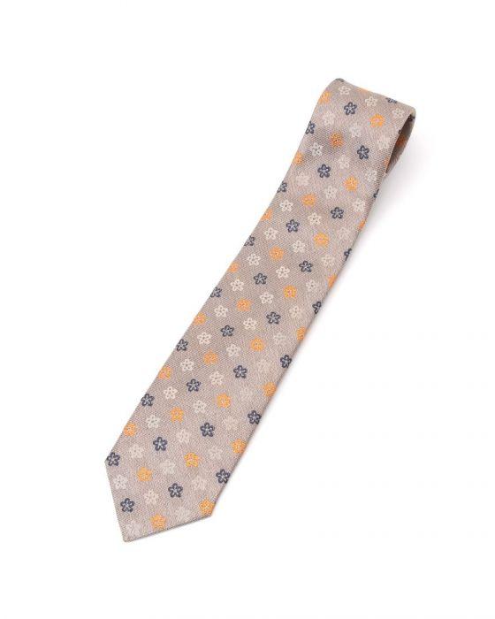 FRANCO BASSI(フランコバッシ) ヘリテージ フラワー刺繍シルクタイ