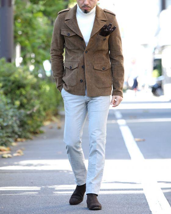 モテ系メンズファッション|FERRANTE(フェランテ) サイドゴアブーツ BROWN【FERRANTE ART JUST】