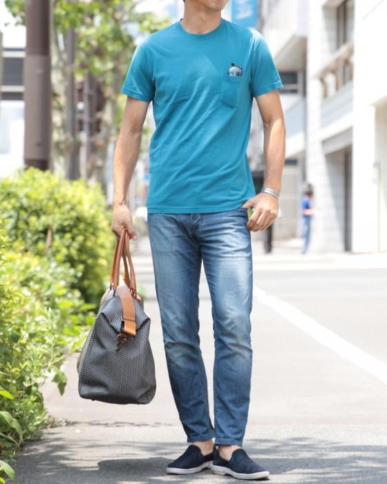 SCAGLIONE(スカリオーネ) 半袖ポケットTeeシャツ【airjumper】
